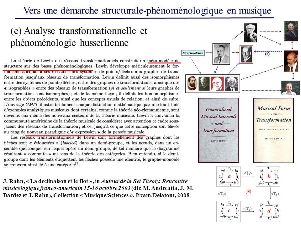 (c) Analyse transformationnelle et phénoménologie husserlienne J.