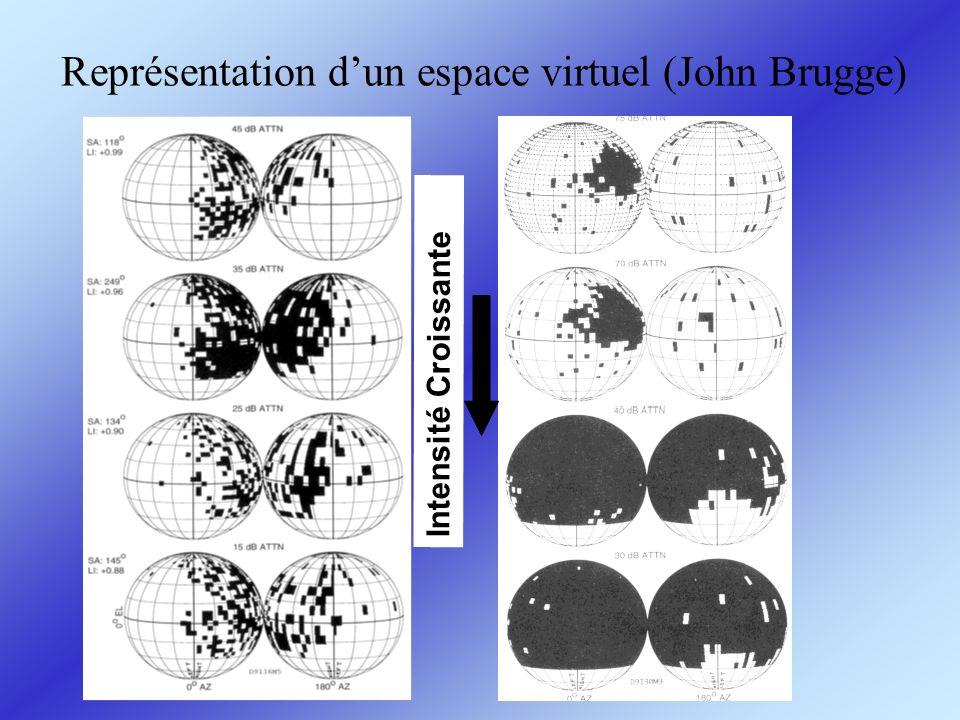 Représentation dun espace virtuel (John Brugge) Intensité Croissante