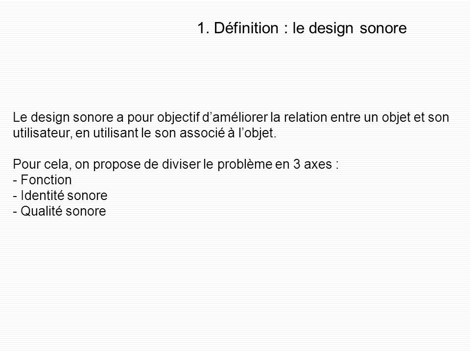 Introduction : présentation du sujet Objectif de la thèse : proposer des solutions de design sonore appliquées aux gares. Problématique posée : commen