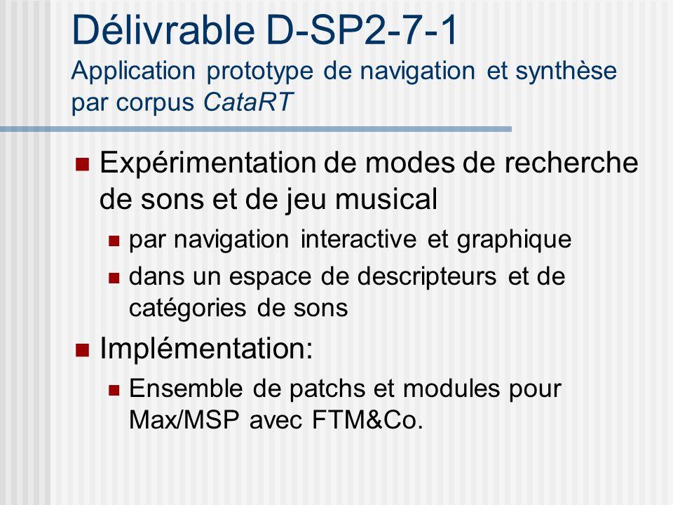 Délivrable D-SP2-7-1 Application prototype de navigation et synthèse par corpus CataRT Expérimentation de modes de recherche de sons et de jeu musical