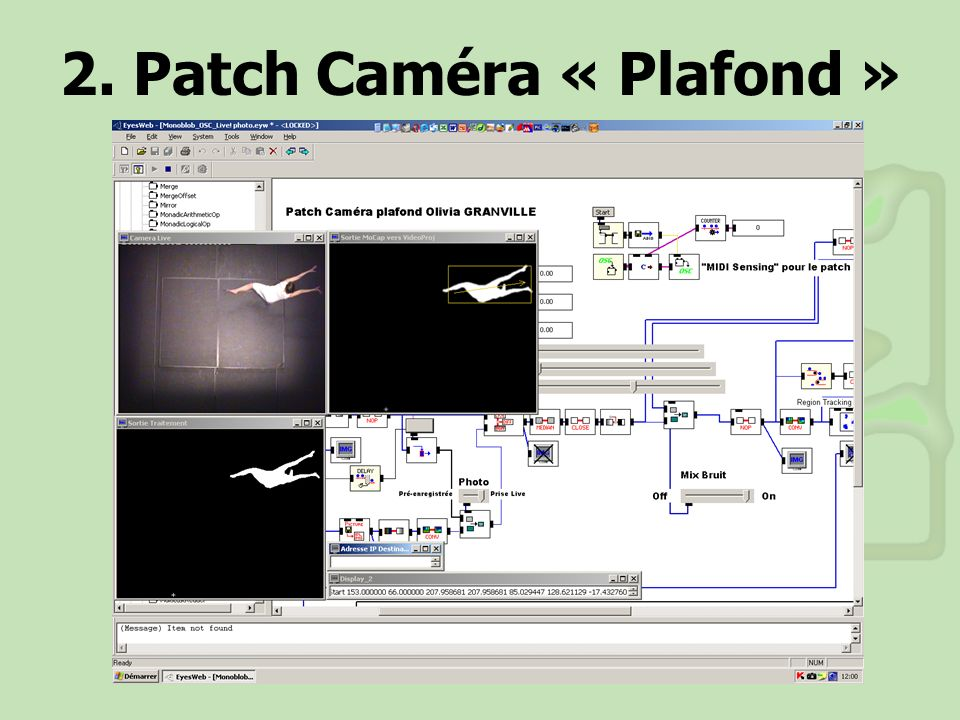 2. Patch Caméra « Plafond »