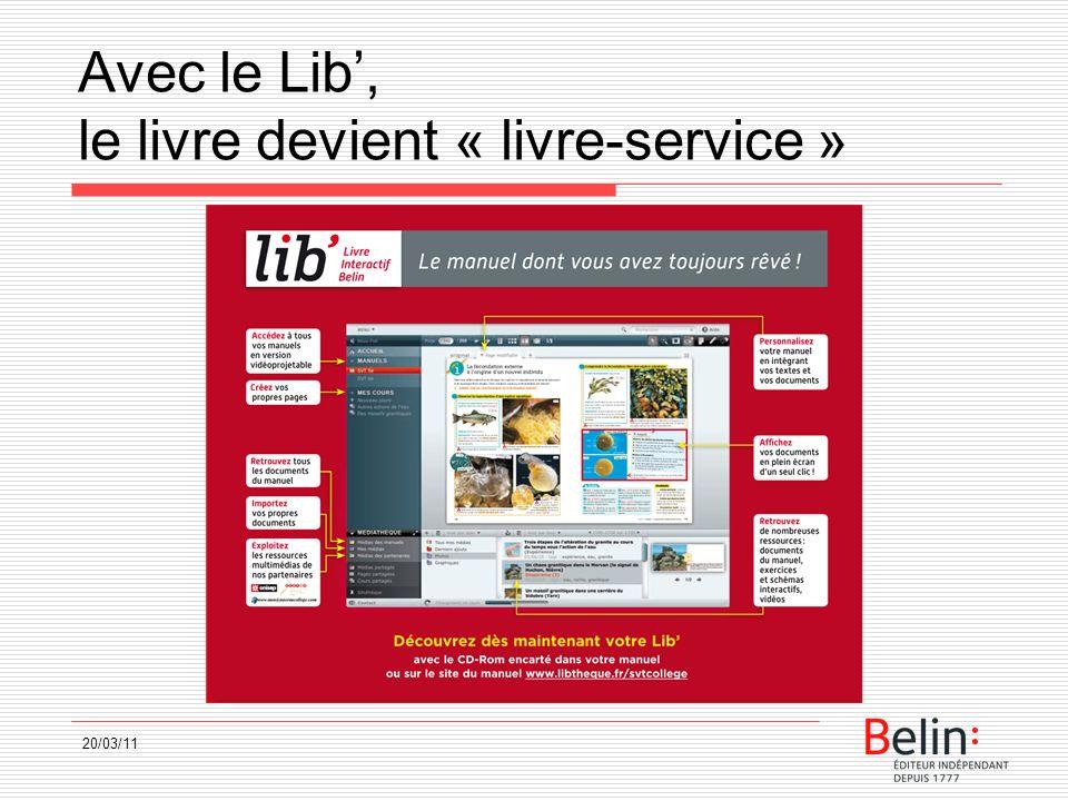 Avec le Lib, le livre devient « livre-service » 20/03/11
