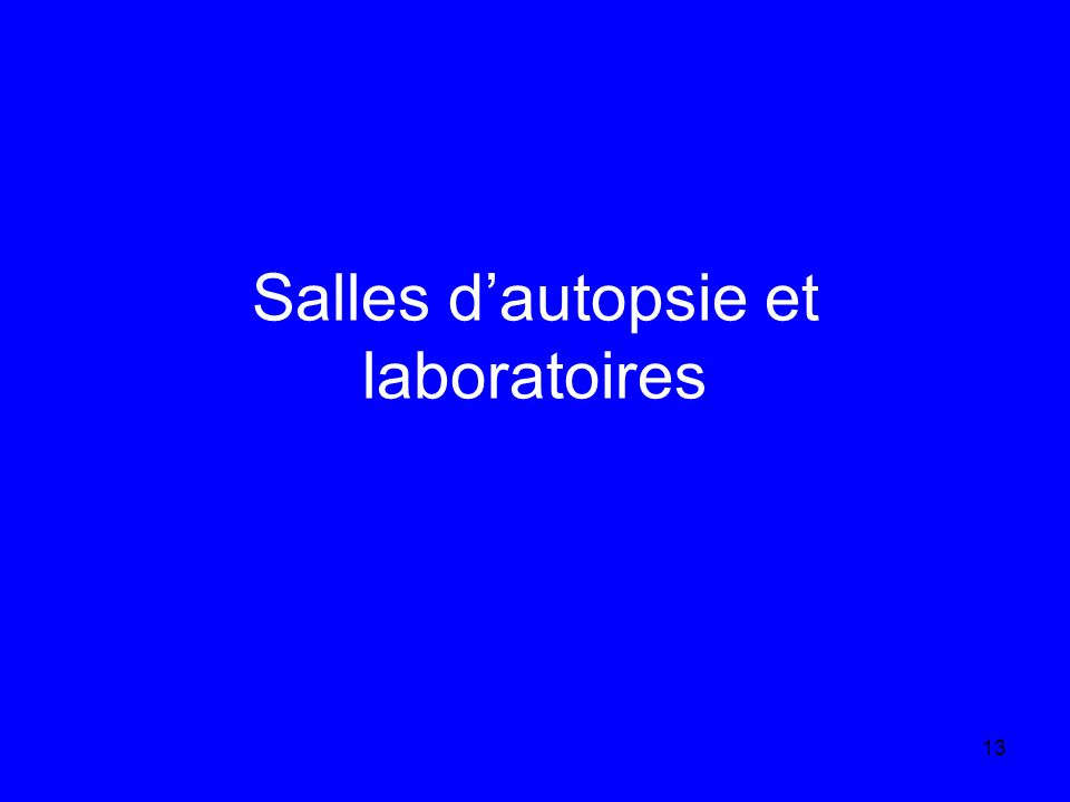 13 Salles dautopsie et laboratoires