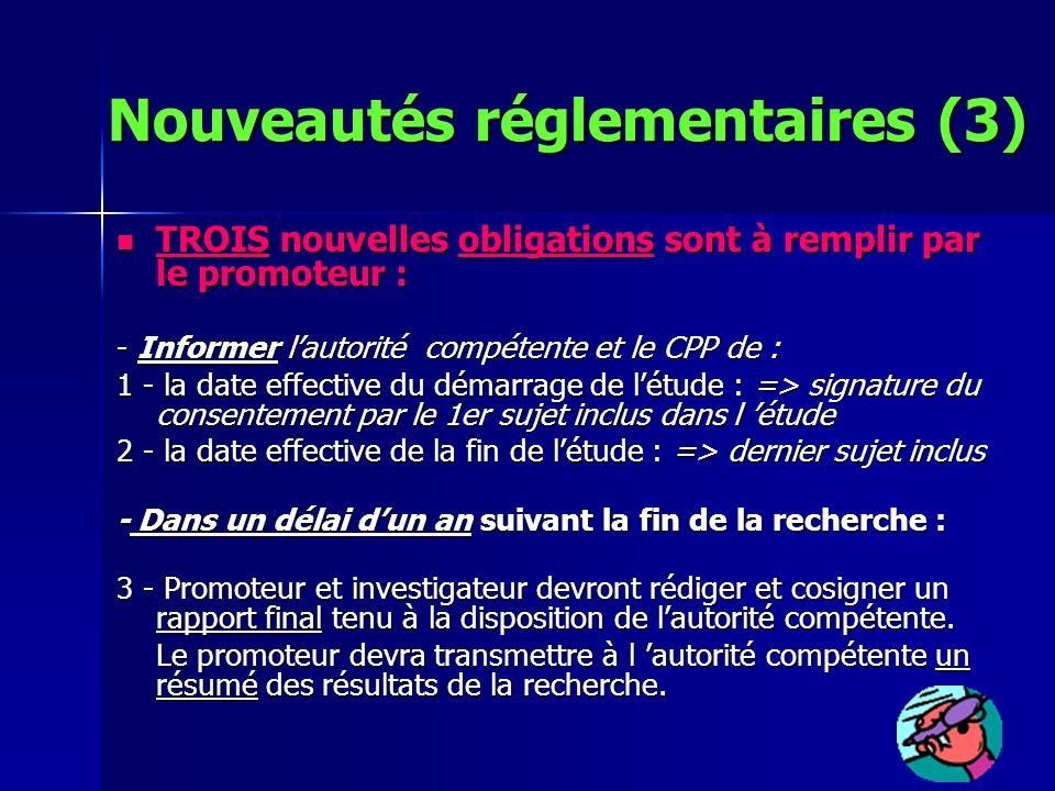 TROIS nouvelles obligations sont à remplir par le promoteur : TROIS nouvelles obligations sont à remplir par le promoteur : - Informer lautorité compé