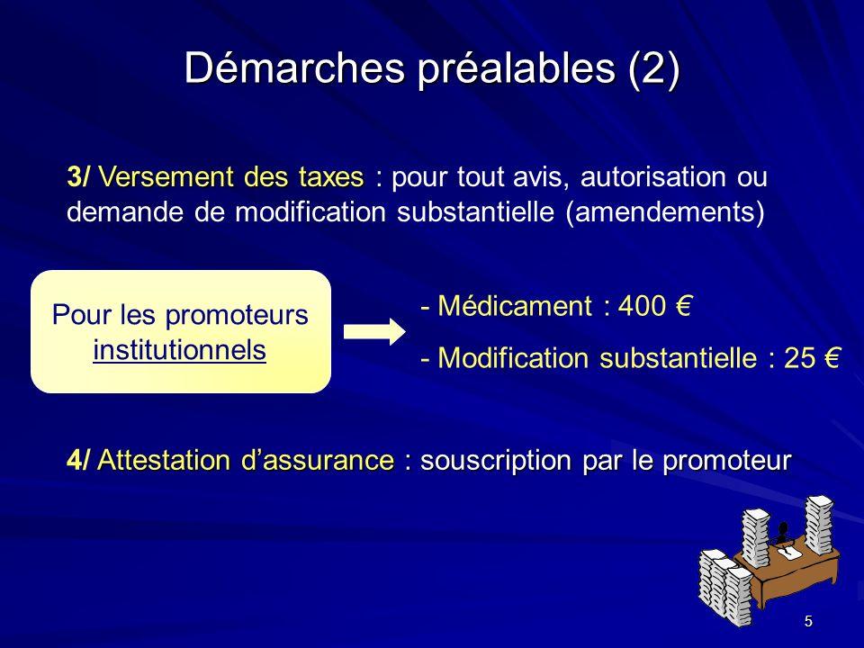 5 Démarches préalables (2) Versement des taxes 3/ Versement des taxes : pour tout avis, autorisation ou demande de modification substantielle (amendem