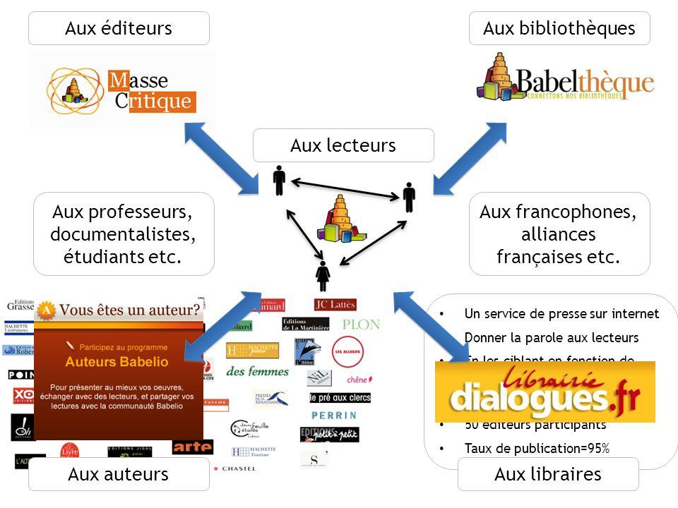 8 Quelques chiffres mars 2010 11 500 membres (Source : Babelio) 28 000 critiques 12 500 citations 560 000 livres catalogués, 300 000 tags, 200 000 notes
