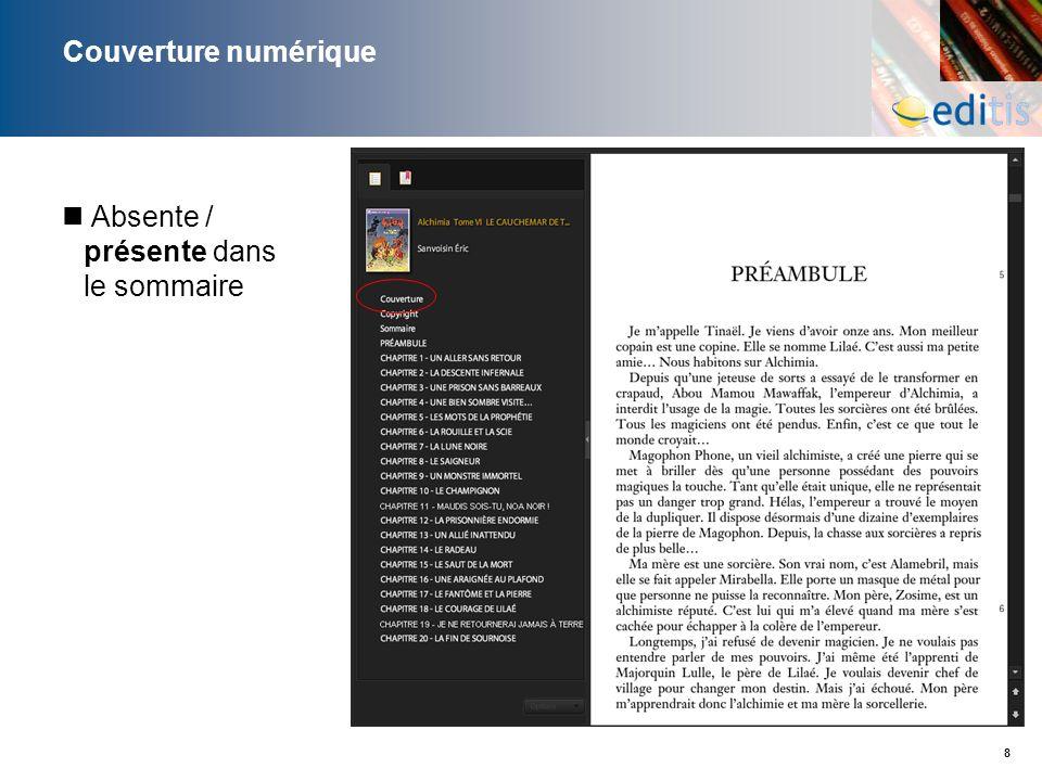 19 Page promotionnelle « Dans la même collection » – numérique Actualisation manuelle des titres lors des réimpressions Actualisation dynamique des titres via lien vers site web à jour