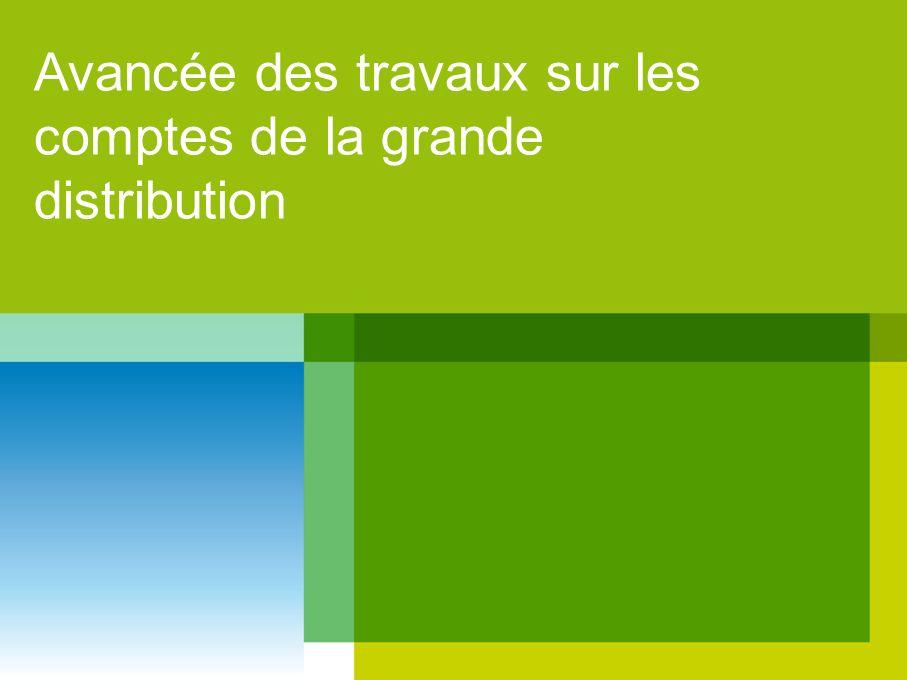 Avancée des travaux sur les comptes de la grande distribution