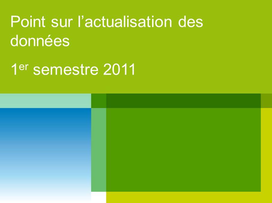 Point sur lactualisation des données 1 er semestre 2011