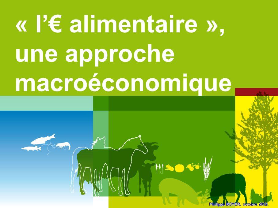 Philippe BOYER, octobre 2012 « l alimentaire », une approche macroéconomique