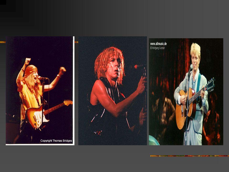 Les Identités Iggy PopDavid Bowie Patti Smith personnageIguane Caméléon Romantique révolutionnaire caractéristiquesPile électrique Dandyféminité brute