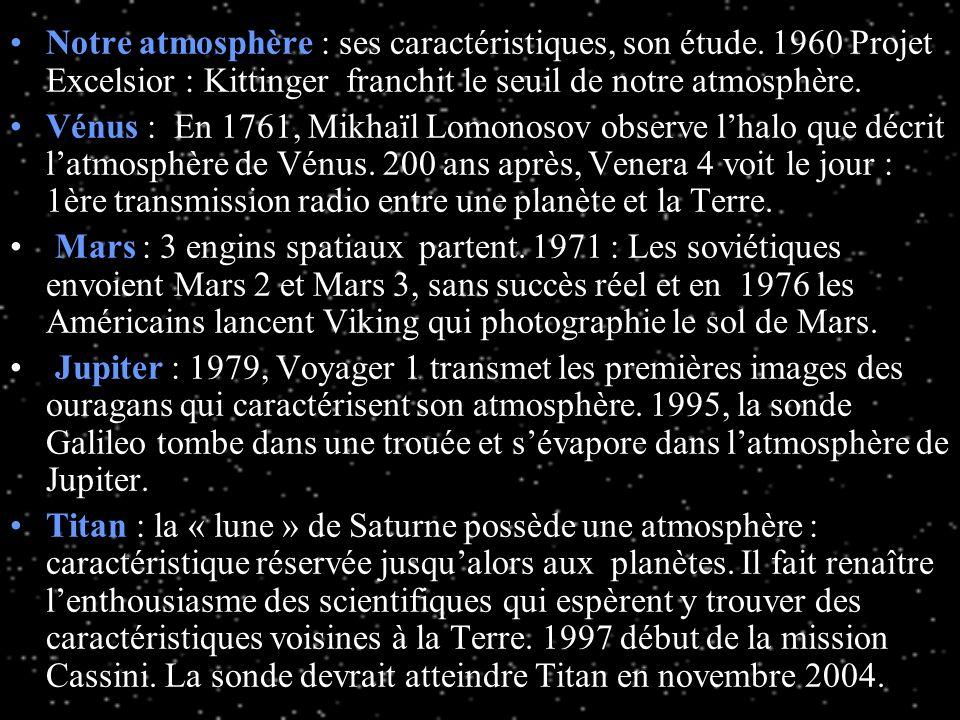 Latmosphère des planètes est un document qui présente les études menées par les scientifiques sur latmosphère des planètes. Trouveront-ils une atmosph