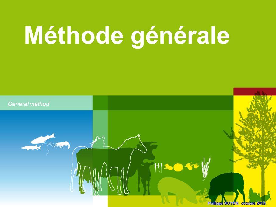 Philippe BOYER, octobre 2012 Méthode générale General method