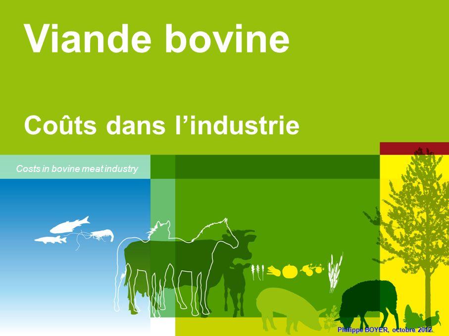 Philippe BOYER, octobre 2012 Viande bovine Coûts dans lindustrie Costs in bovine meat industry