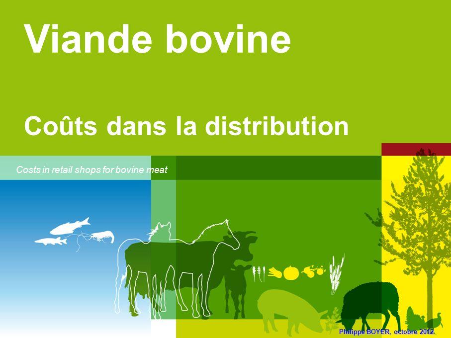 Philippe BOYER, octobre 2012 Viande bovine Coûts dans la distribution Costs in retail shops for bovine meat