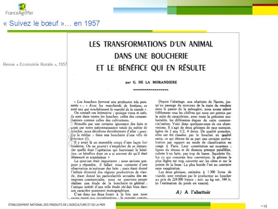 18 Revue « Economie Rurale », 1957 « Suivez le bœuf »… en 1957
