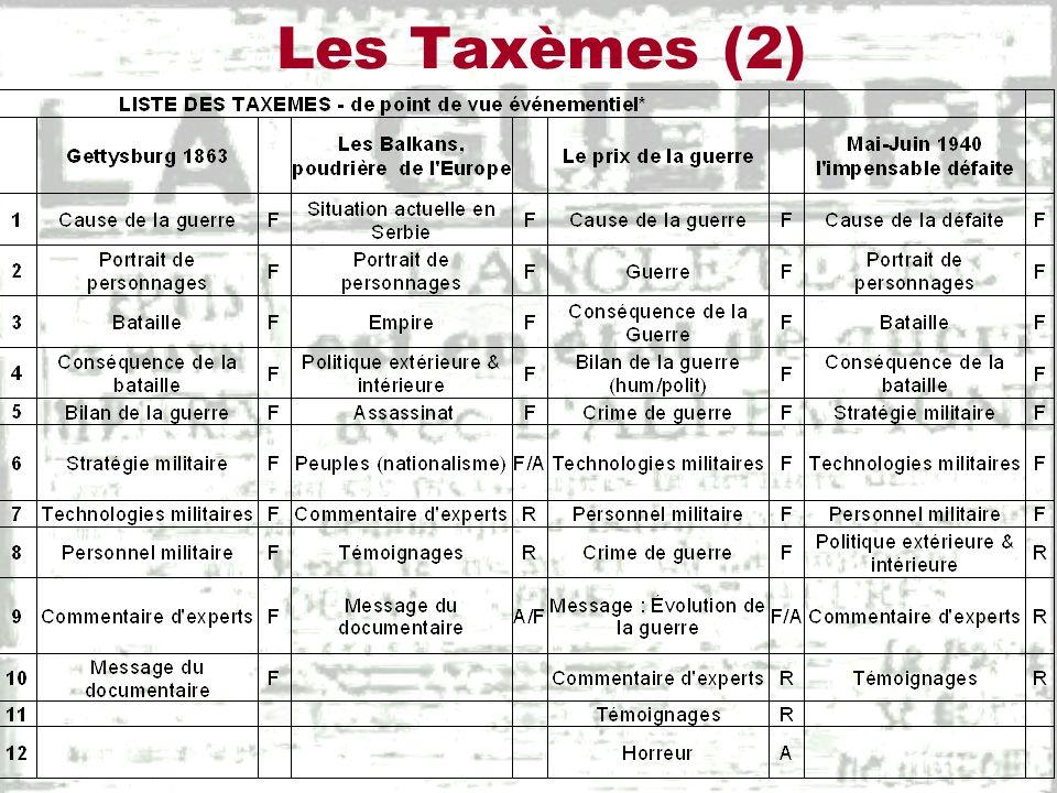 Les Taxèmes (3)