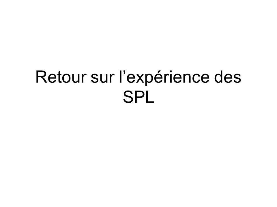 Retour sur lexpérience des SPL