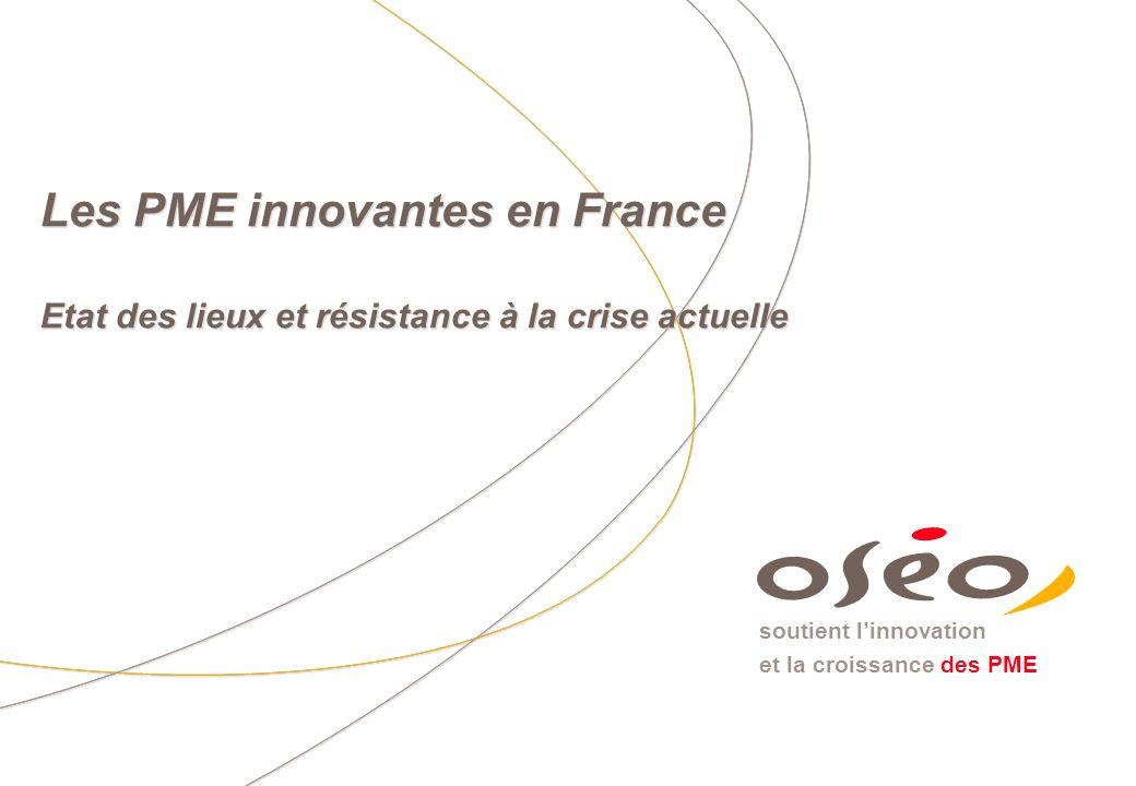 soutient linnovation et la croissance des PME Les PME innovantes en France Etat des lieux et résistance à la crise actuelle