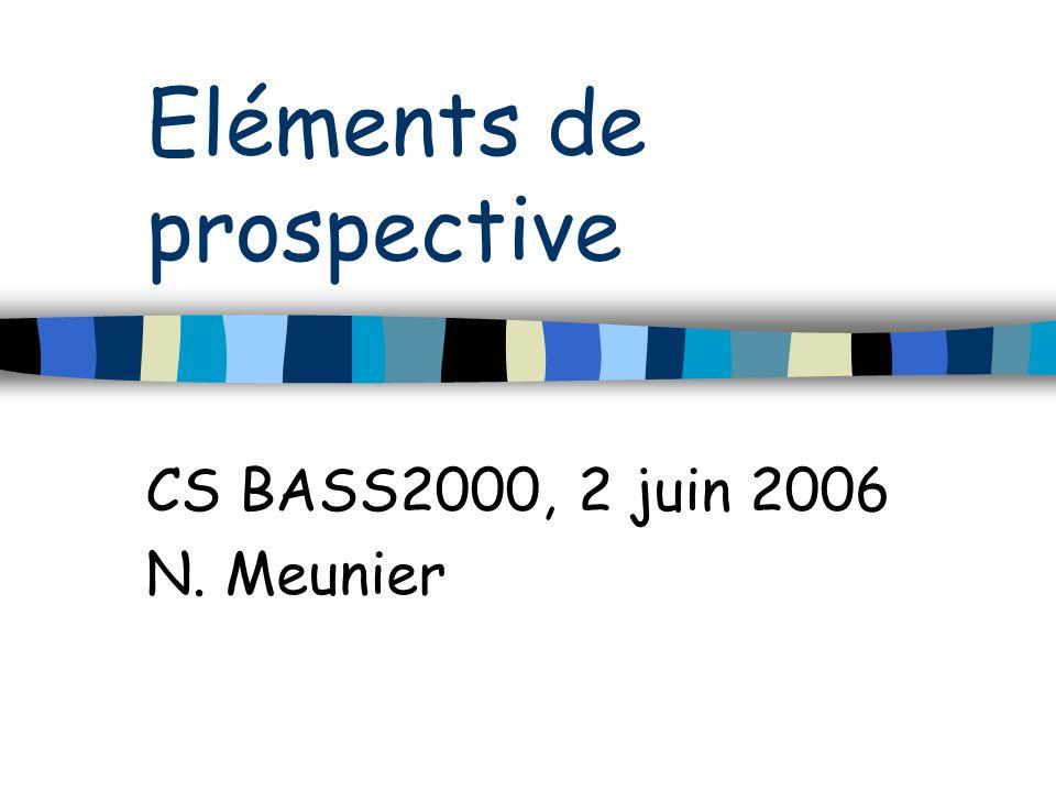 Eléments de prospective CS BASS2000, 2 juin 2006 N. Meunier