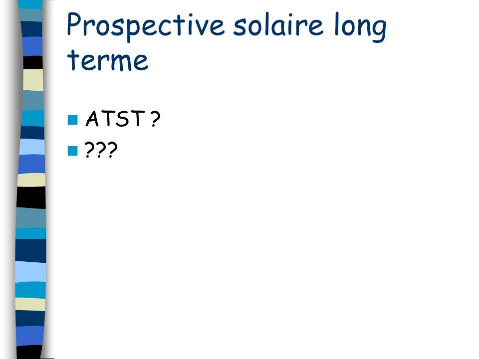 ATST ? ??? Prospective solaire long terme