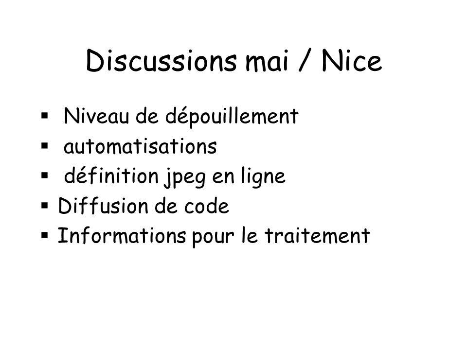 Discussions mai / Nice Niveau de dépouillement automatisations définition jpeg en ligne Diffusion de code Informations pour le traitement