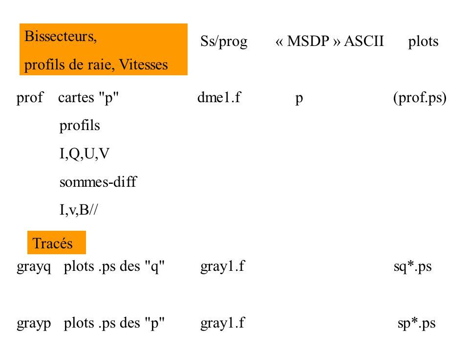 Ss/prog « MSDP » ASCII plots bmc calcul des fichiers