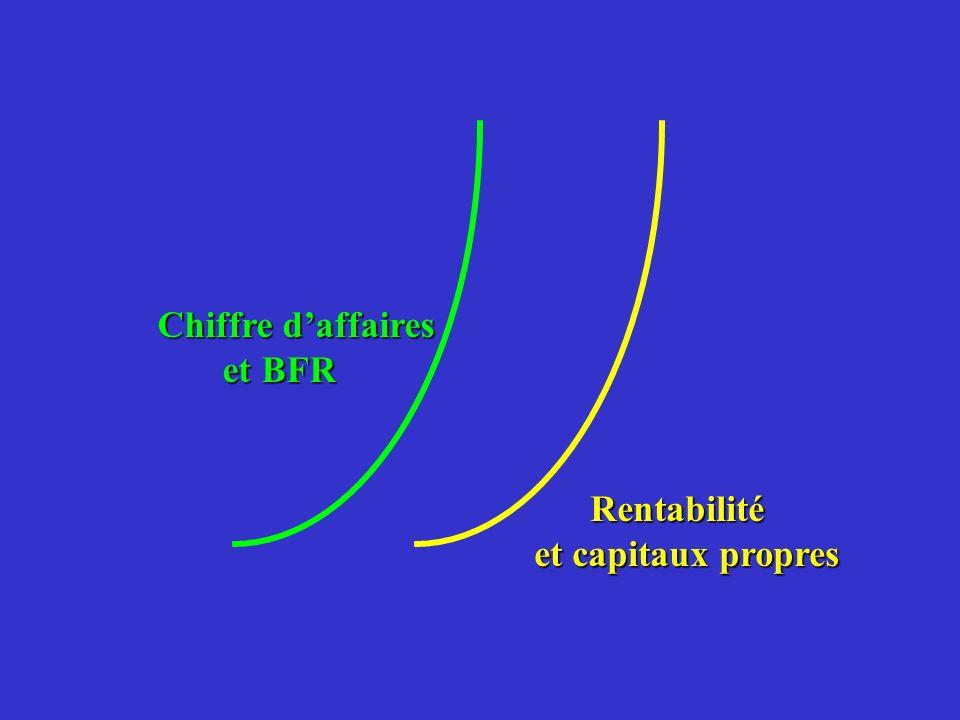 Chiffre daffaires et BFR et BFR Rentabilité Rentabilité et capitaux propres