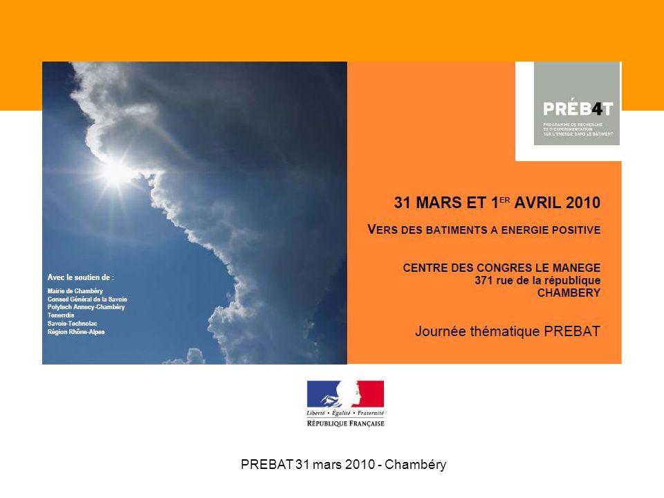 Journée PREBAT vers des bâtiments à énergie positive Mesurer la performance des bâtiments Jean-Alain Bouchet CETE Méditerranée CHAMBERY – 31 mars 2010
