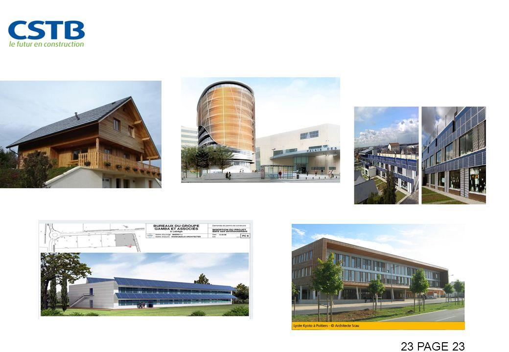 Le Bâtiment à énergie positive, rêve ou réalité 23 PAGE 23