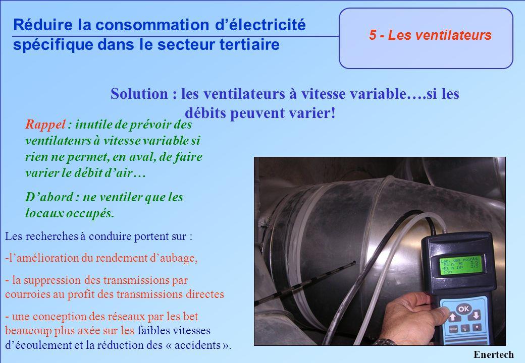 Les recherches à conduire portent sur : -lamélioration du rendement daubage, - la suppression des transmissions par courroies au profit des transmissi