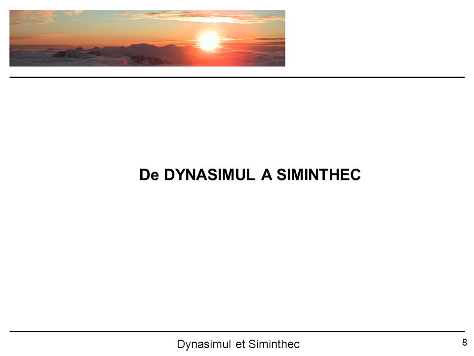 8 Dynasimul et Siminthec De DYNASIMUL A SIMINTHEC