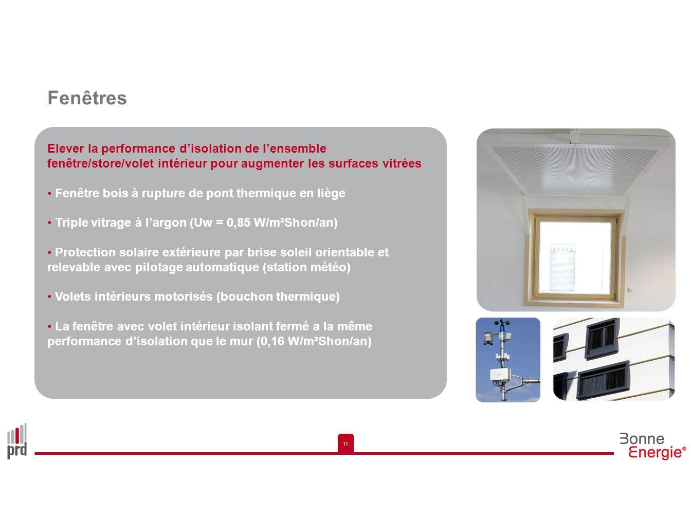 11 Fenêtres Elever la performance disolation de lensemble fenêtre/store/volet intérieur pour augmenter les surfaces vitrées Fenêtre bois à rupture de