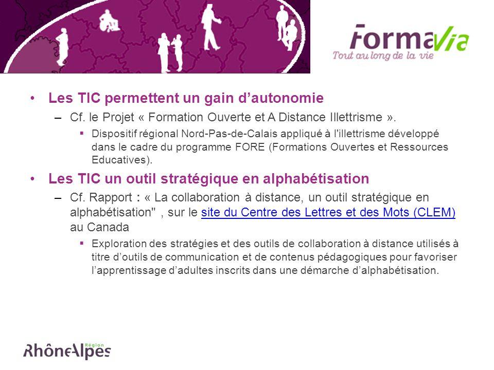 Les TIC sont utiles pour des jeunes Français en début de scolarité et les adultes en voie d alphabétisation tardive (en situation d illettrisme).