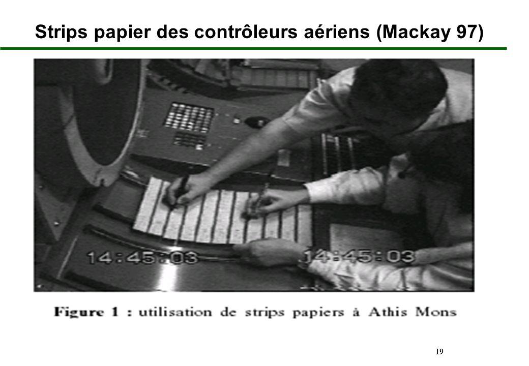 19 Strips papier des contrôleurs aériens (Mackay 97)
