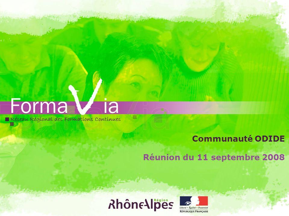 Réunion du 11 septembre 2008 Communauté ODIDE