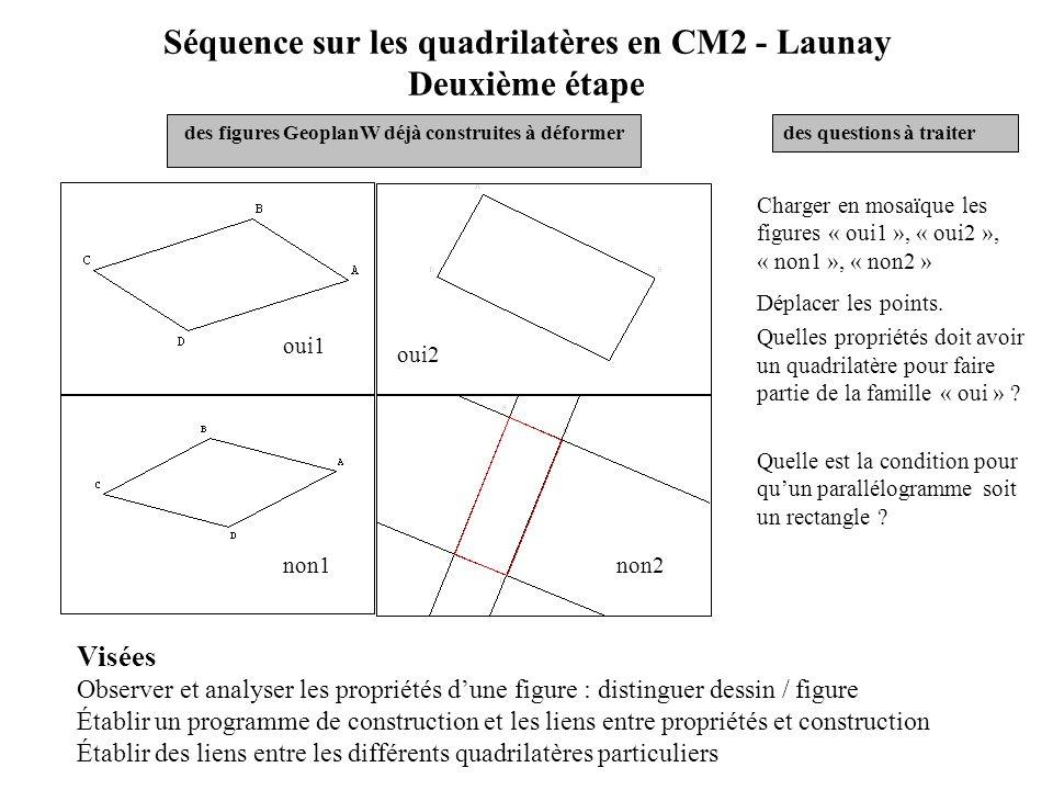 Séquence sur les quadrilatères en CM2 – Launay Situation générale - étude des propriétés géométriques des quadrilatères - construire de plusieurs faço