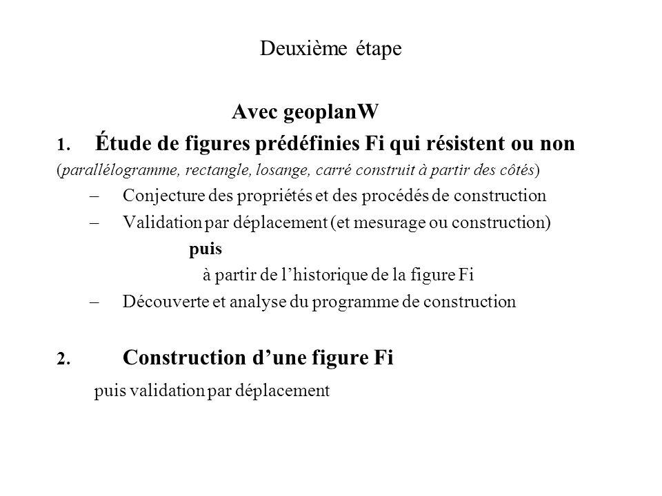 Séquence sur les quadrilatères en CM2 - Launay Deuxième étape oui1 non1 oui2 des figures GeoplanW déjà construites à déformerdes questions à traiter C