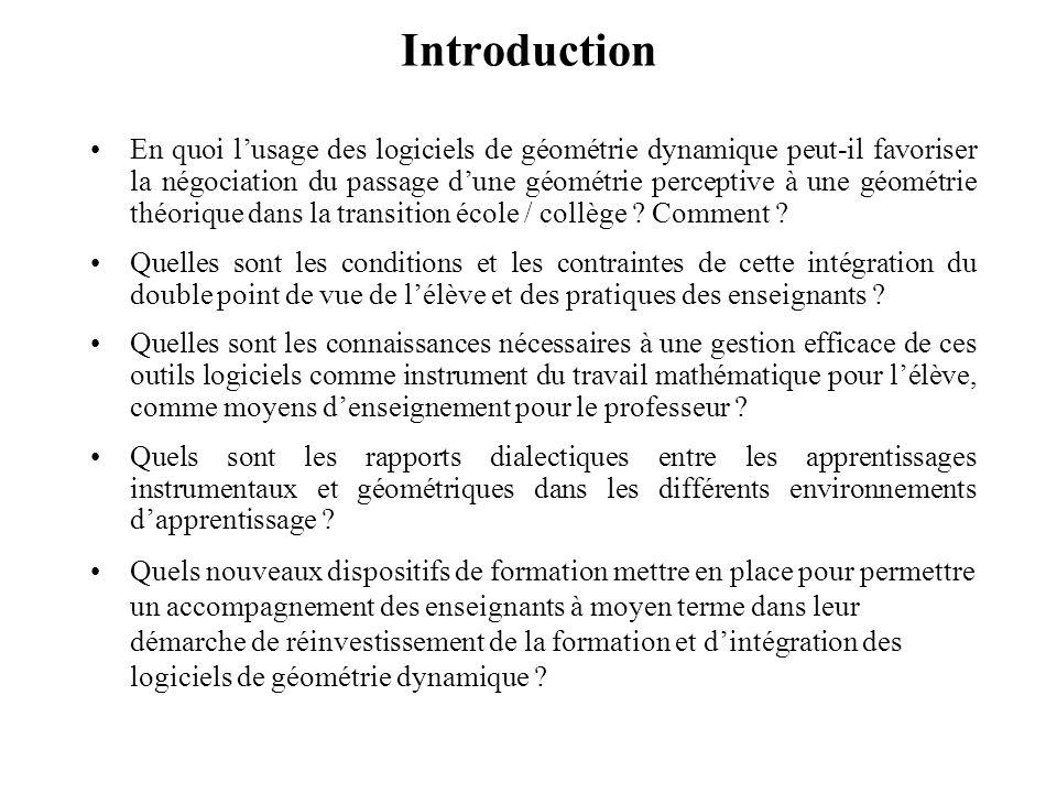 Plan Introduction Séances dinitiation proposées aux élèves –Analyse des choix –synthèse et apports théoriques sur la genèse instrumentale Progressions