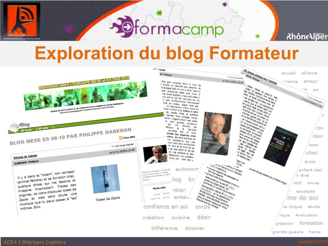Exploration des blogs élèves