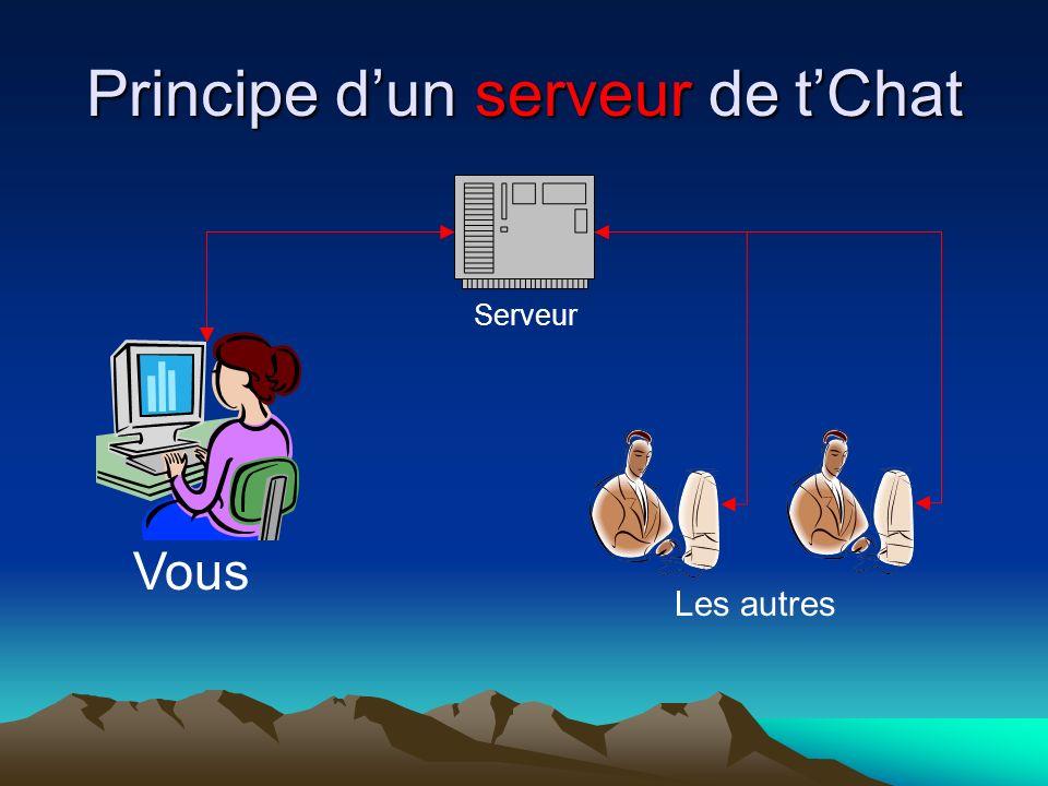 Principe dun serveur de tChat Serveur Vous Les autres