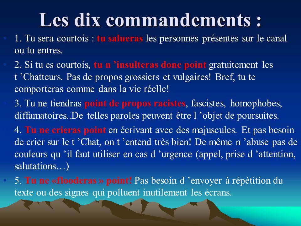 Les dix commandements : 1.
