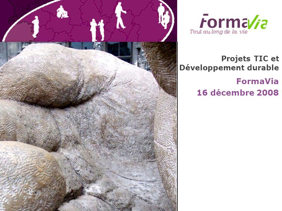 Projets TIC et Développement durable FormaVia 16 décembre 2008