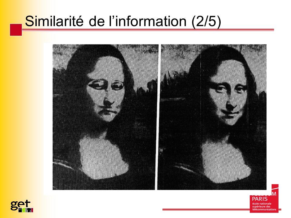 Similarité de linformation (2/5)