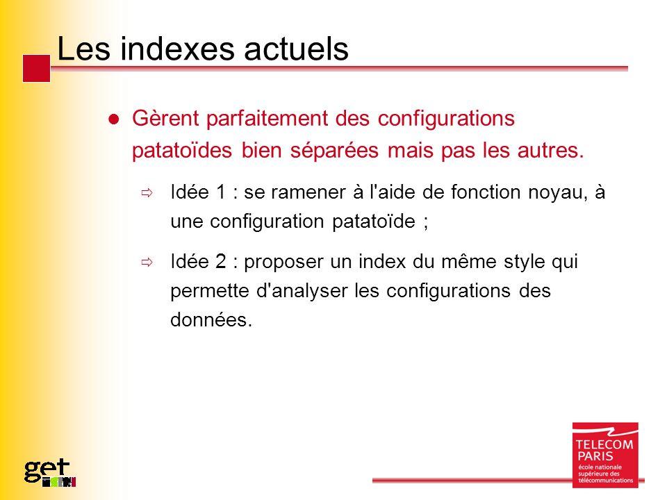 Les indexes actuels Gèrent parfaitement des configurations patatoïdes bien séparées mais pas les autres. Idée 1 : se ramener à l'aide de fonction noya