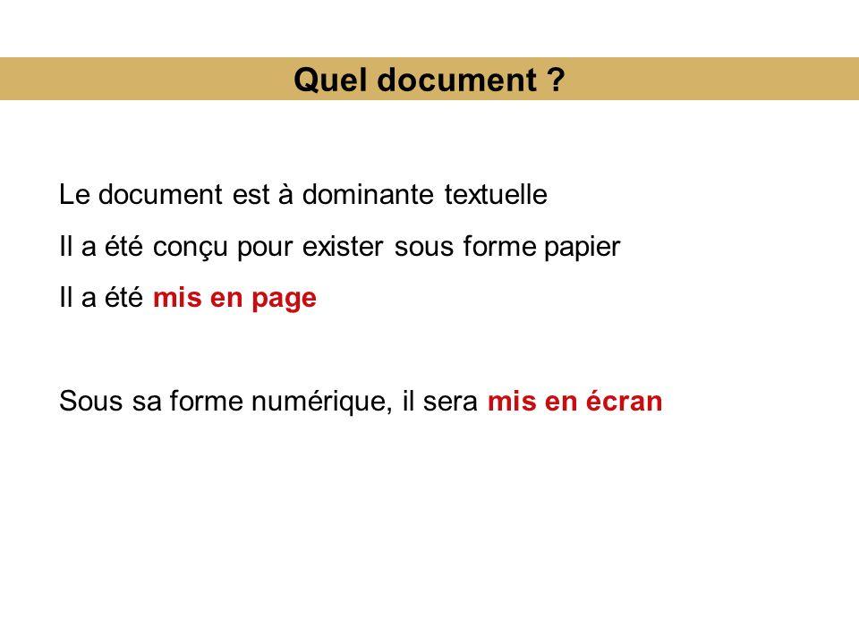 Quel document .