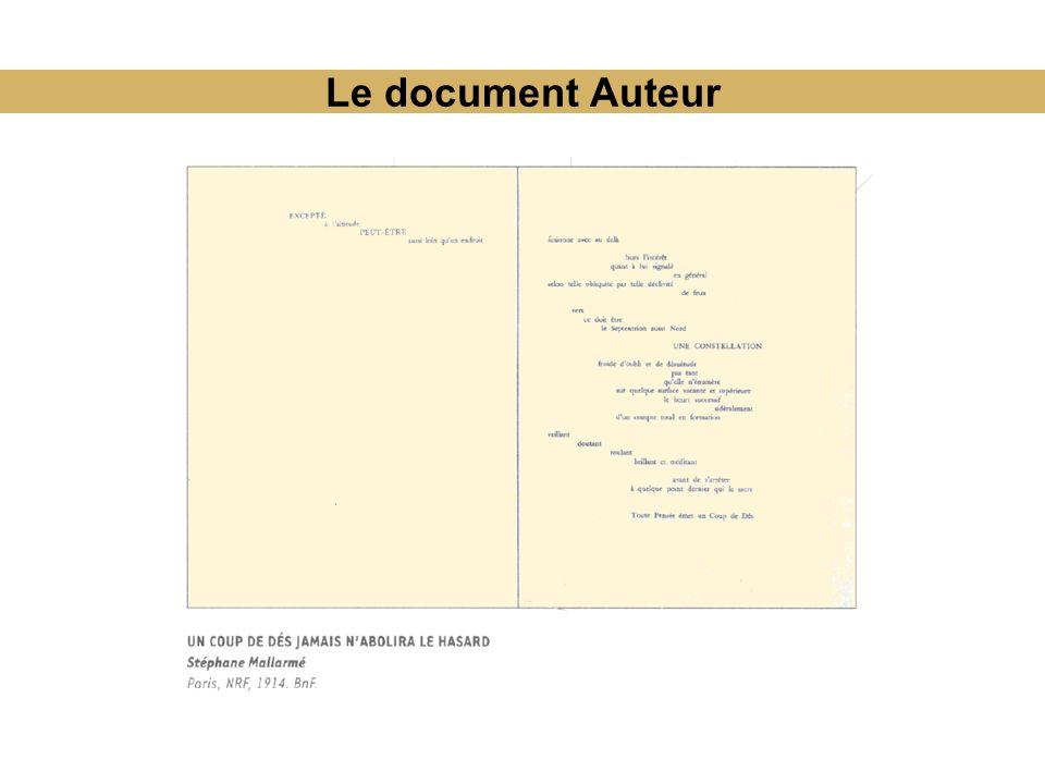 Le document Auteur