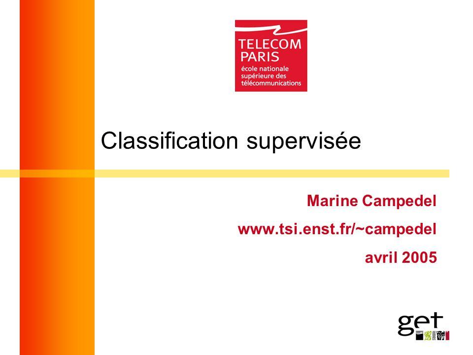 Classification supervisée Marine Campedel www.tsi.enst.fr/~campedel avril 2005