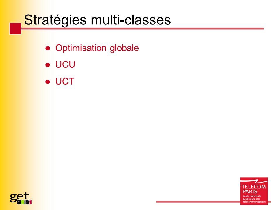 Stratégies multi-classes Optimisation globale UCU UCT