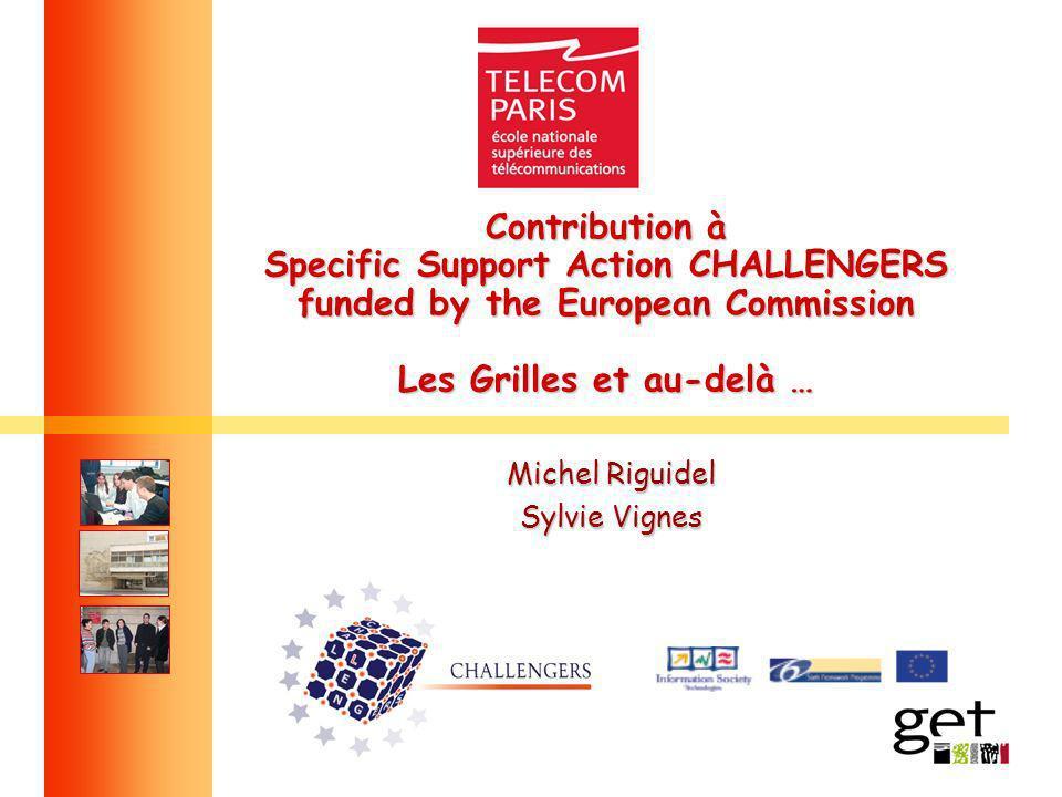 Contribution à Specific Support Action CHALLENGERS funded by the European Commission Les Grilles et au-delà … Michel Riguidel Sylvie Vignes